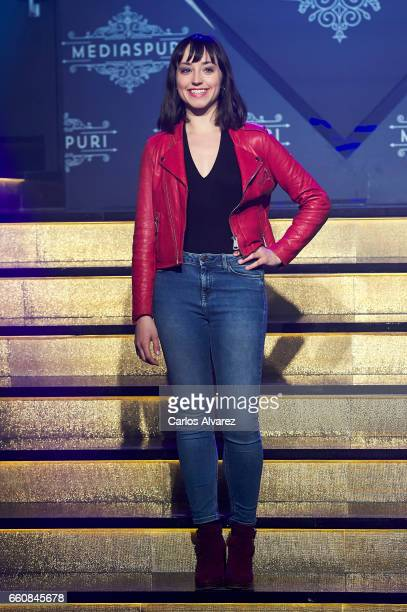 Spanish actress Andrea Trepat attends the opening of the new Clandestine Show Club 'The Secret' on March 30 2017 in Madrid Spain