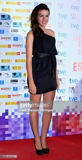Spanish actress Andres Guasch attends 'Spanish Night Cinema' party at Cecilio Rodriguez Gardens in Retiro Park on June 20 2011 in Madrid Spain