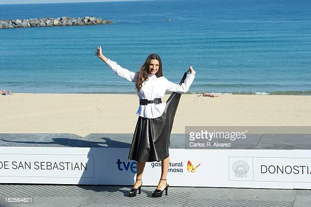 Spanish actress Angela Molina attends 'Blancanieves' photocall at the Kursaal Palace during the 60th San Sebastian International Film Festival on...