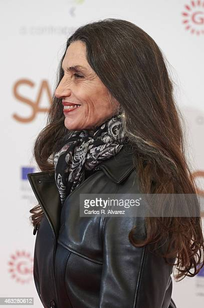 Spanish actress Angela Molina attends 'Samba' premiere at the Palafox cinema on February 12 2015 in Madrid Spain