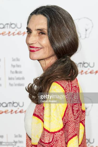 Spanish actress Angela Molina attends the Bambu 10th anniversary party at Gran Maestre Theater on July 5 2018 in Madrid Spain