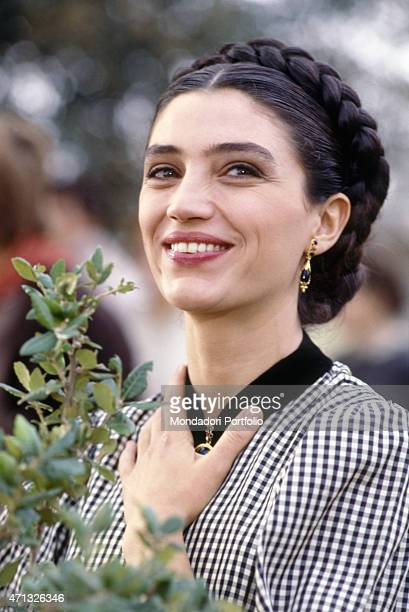 Spanish actress Angela Molina playing Battistina Ravello in the TV miniseries Il generale Italy 1987