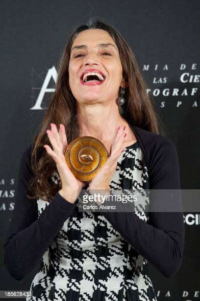 Spanish actress Angela Molina receives the Goya Golden Medal 2013 at the Spanish Cinema Academy on October 23 2013 in Madrid Spain