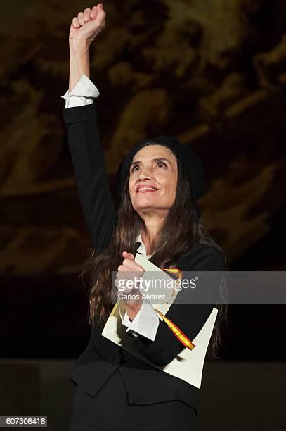 Spanish actress Angela Molina receives the National Cinematography Award on September 17 2016 in San Sebastian Spain