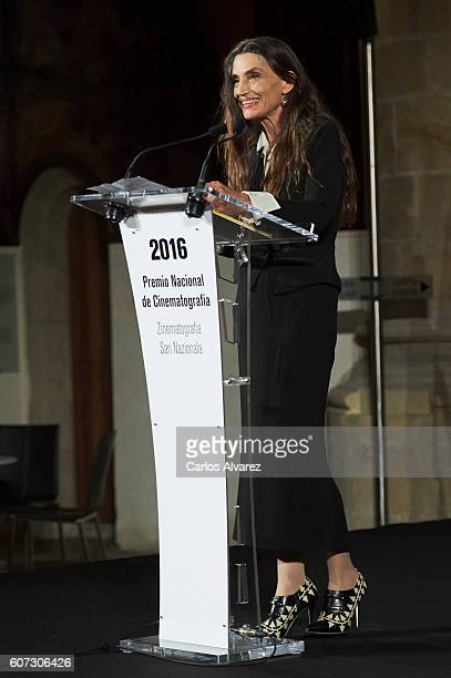 Spanish actress Angela Molina receives the National Cinematography Award on September 17 2016 in San Sebastian Spain