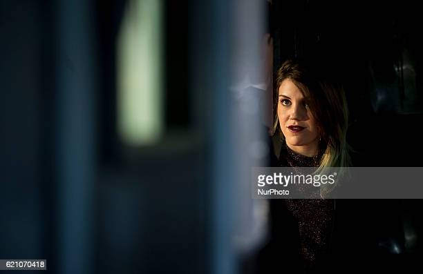 """Spanish actress Angie Cepeda attends the """"100 metros"""" premiere in Capitol Cinema on November 2, 2016 in Madrid, Spain."""