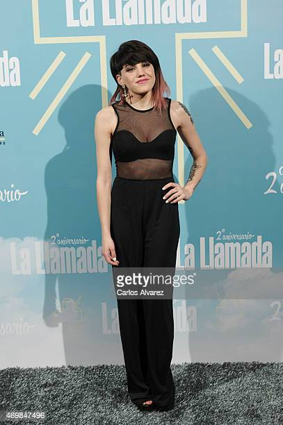 Spanish actress Angy Fernandez attends 'La Llamada' premiere at the Lara Theater on April 15 2015 in Madrid Spain
