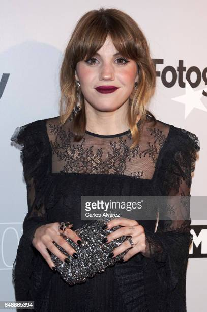 Spanish actress Angy Fernandez attends the Fotogramas Magazine cinema awards 2017 at the Joy Eslava Club on March 6 2017 in Madrid Spain