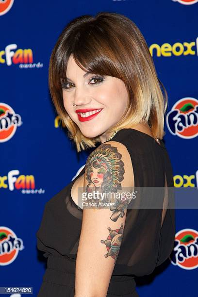 Spanish actress Angy Fernandez attends the 'Neox Fan Awards' 2012 photocall at the La Latina Teather on October 23 2012 in Madrid Spain
