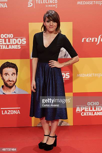 Spanish actress Angy Fernandez attends the 'Ocho Apellidos Catalanes' premiere at the Capitol cinema on November 18 2015 in Madrid Spain
