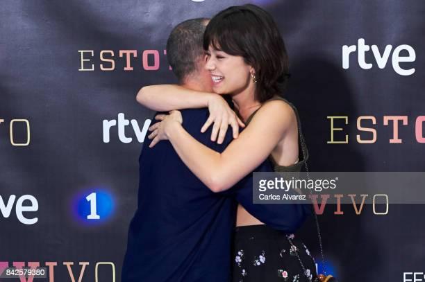 Spanish actress Anna Castillo and actor Javier Gutierrez attend 'Estoy Vivo' photocall during the FesTVal 2017 at the Palacio de Congresos on...