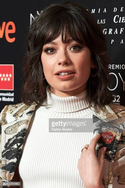 Spanish actress Anna Castillo attends the Goya cinema awards candidates 2018 meeting at Casa de Correos on January 15 2018 in Madrid Spain