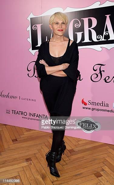 Spanish actress Antonia San Juan attends 'La Gran Depresion' premiere at Infanta Isabel Theatre on May 19, 2011 in Madrid, Spain.