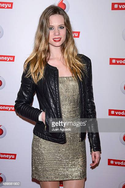 Spanish actress Arancha Marti attends the Leiva concert at Joy Eslava Club on November 25 2014 in Madrid Spain
