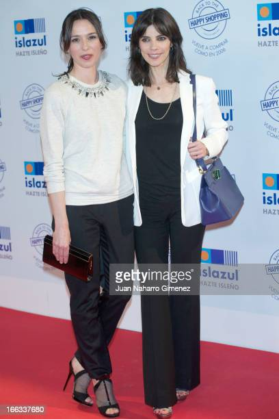 Spanish actress Ariadna Gil and Maribel Verdu attend Back to The Happy Shopping at Islazul Mall Center on April 11 2013 in Madrid Spain