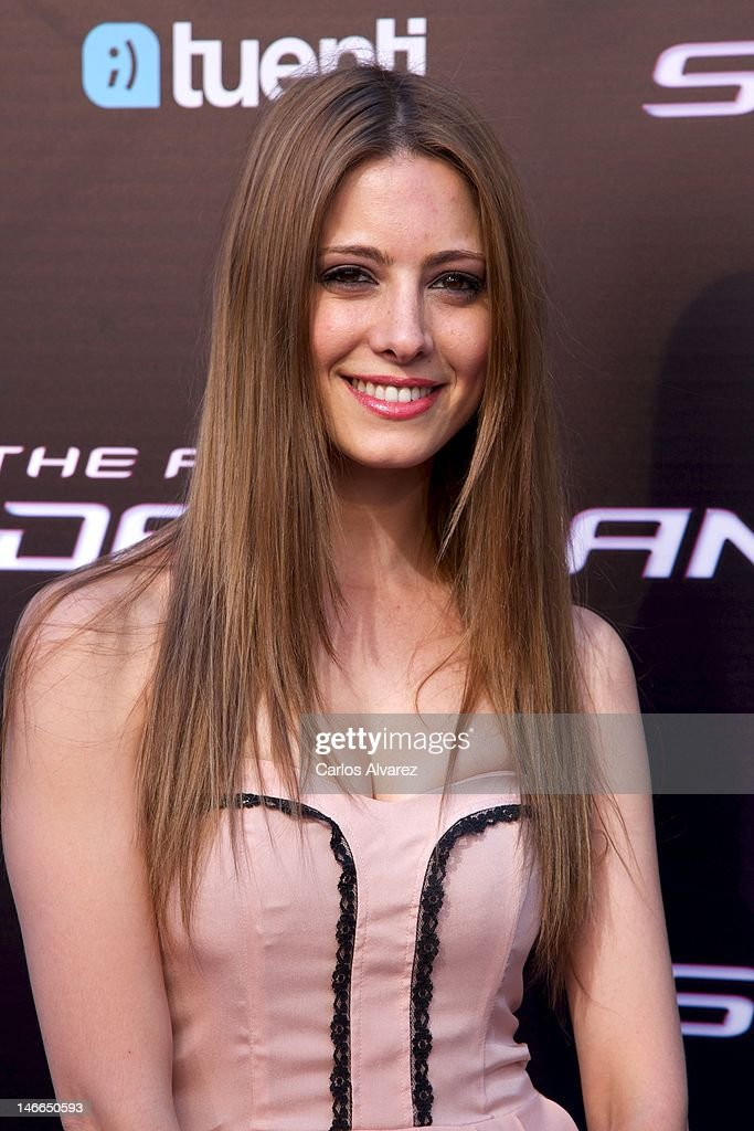 Spanish actress Aroa Gimeno attends 'The Amazing Spider-Man' premiere at Callao cinema on June 21, 2012 in Madrid, Spain.