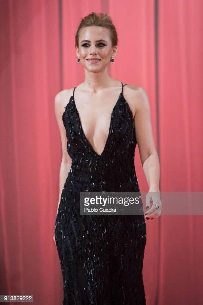 Spanish actress Aura Garrido attends Goya Cinema Awards 2018 at Madrid Marriott Auditorium on February 3 2018 in Madrid Spain