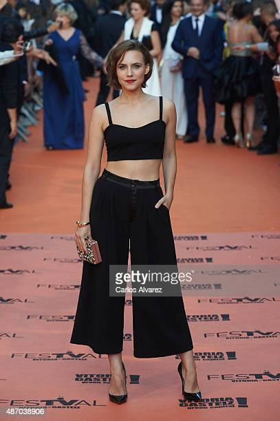 Spanish actress Aura Garrido attends the 7th FesTVal Television Festival 2015 the closing ceremony at the Principal Theater on September 5 2015 in...