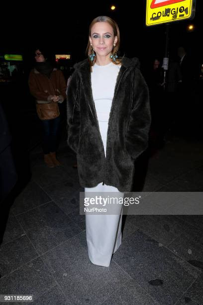 Spanish actress Aura Garrido poses as she arrives for the 27th Actors and Actresses Union Awards at the Circo Price Theater in Madrid Spain 12 March...