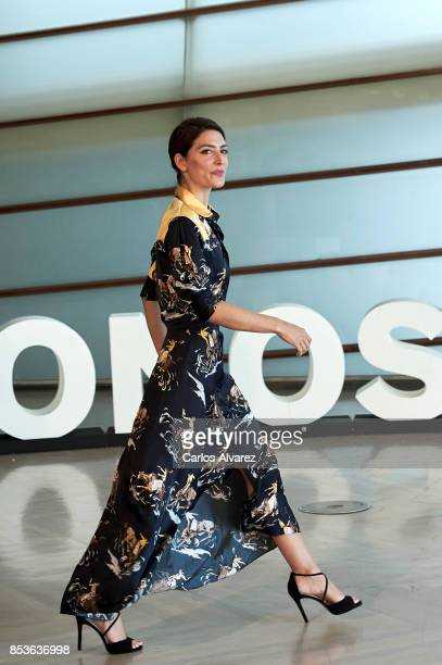 Spanish actress Barbara Lennie attends 'Una Especie de Familia' photocall during 65th San Sebastian International Film Festival on September 25, 2017...