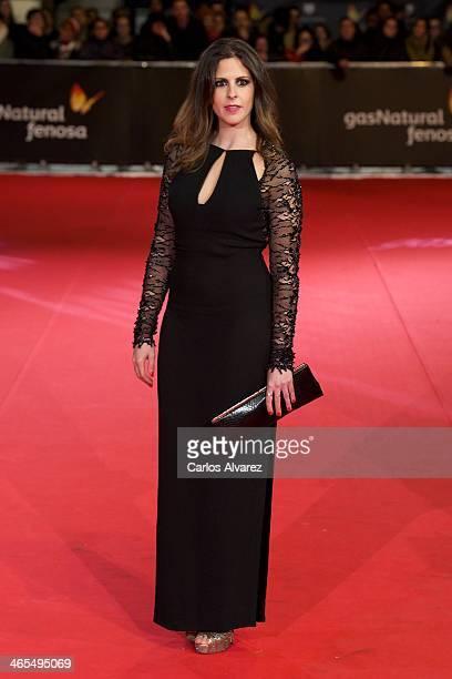 Spanish actress Barbara Santacruz attends the 'Feroz' cinema awards 2014 at the Callao cinema on January 27 2014 in Madrid Spain