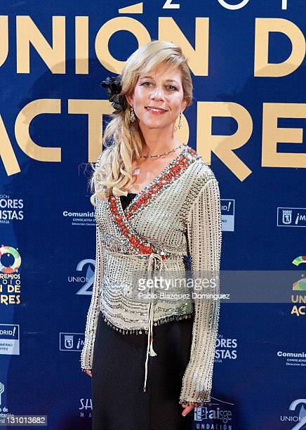 Spanish actress Beatriz Bergamin attends XX Union de Actores Awards at Circo Price Theatre on October 31 2011 in Madrid Spain