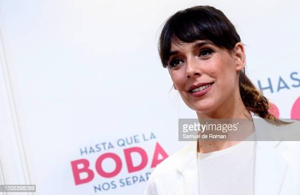 Spanish actress Belen Cuesta attends 'Hasta que la boda nos separe' premiere on February 10 2020 in Madrid Spain