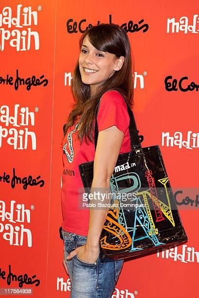 Spanish actress Belen Cuesta promotes the new brand 'MadinSpain' at El Corte Ingles on June 28 2011 in Madrid Spain