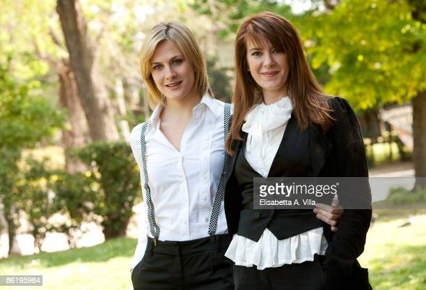 Spanish actress Belen Fabra and French writer Valerie Tasso attend 'Diary Of A Sex Addict' (Valerie - Diario Di Una Ninfomane' at Villa Borghese on...