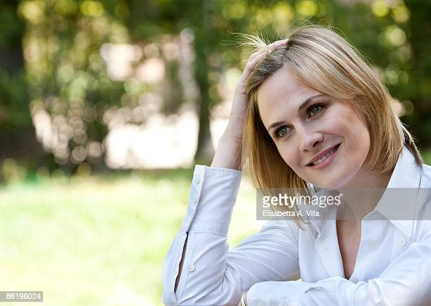 Spanish actress Belen Fabra attends 'Diary Of A Sex Addict' photocall at Villa Borghese on April 24, 2009 in Rome, Italy.