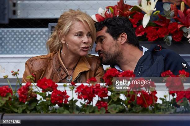 Spanish actress Belen Rueda and Francis Malfatto attend day eight of the Mutua Madrid Open tennis tournament at the Caja Magica on May 12 2018 in...