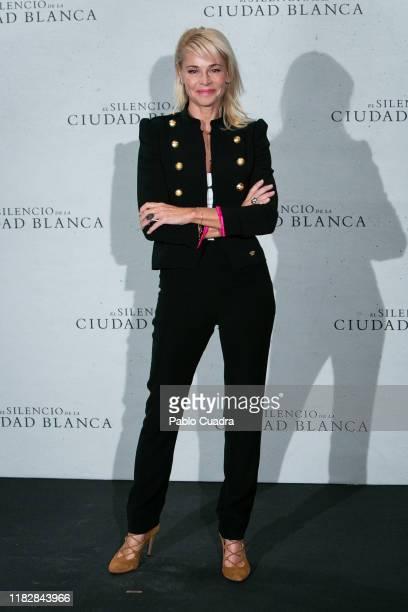 Spanish actress Belen Rueda attends El Silencio de La Ciudad Blanca photocall at Urso Hotel on October 23 2019 in Madrid Spain