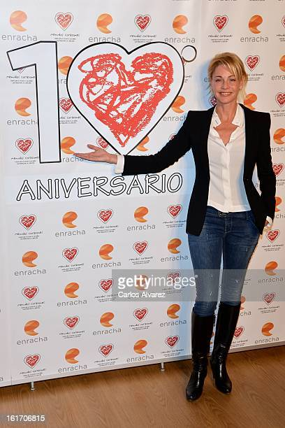 Spanish actress Belen Rueda attends the Menudos Corazones Foundation charity dinner at the Macoes Club on February 14 2013 in Madrid Spain