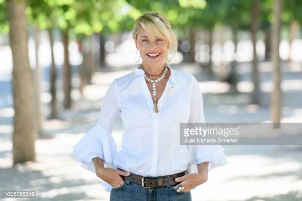 Spanish actress Belen Rueda poses during a portrait session at Retiro Park on July 25 2018 in Madrid Spain