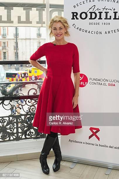 Spanish actress Belen Rueda presents 'Rodilla Conversa Borra El Sida' on November 5 2016 in Madrid Spain