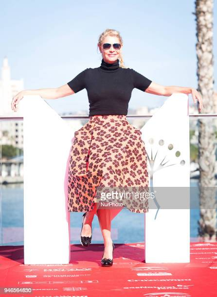 Spanish actress Belén Rueda attends the première of the film quotNo Dormirásquot at the third journey of the Malaga International film festival in...