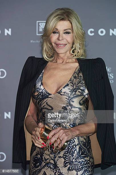 Spanish actress Bibi Andersen attends the 'Icon' awards 2016 at the French Embassy on October 13 2016 in Madrid Spain