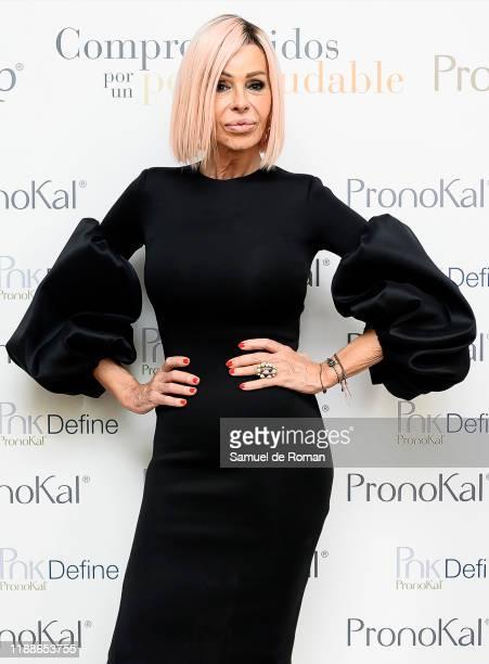 Spanish actress Bibiana Fernandez attends PronoKal group presentation in Madrid on November 19 2019 in Madrid Spain