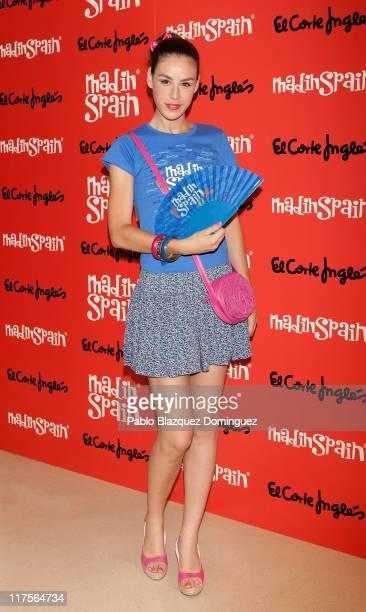 Spanish actress Blanca Jara promotes the new brand 'MadinSpain' at El Corte Ingles on June 28 2011 in Madrid Spain