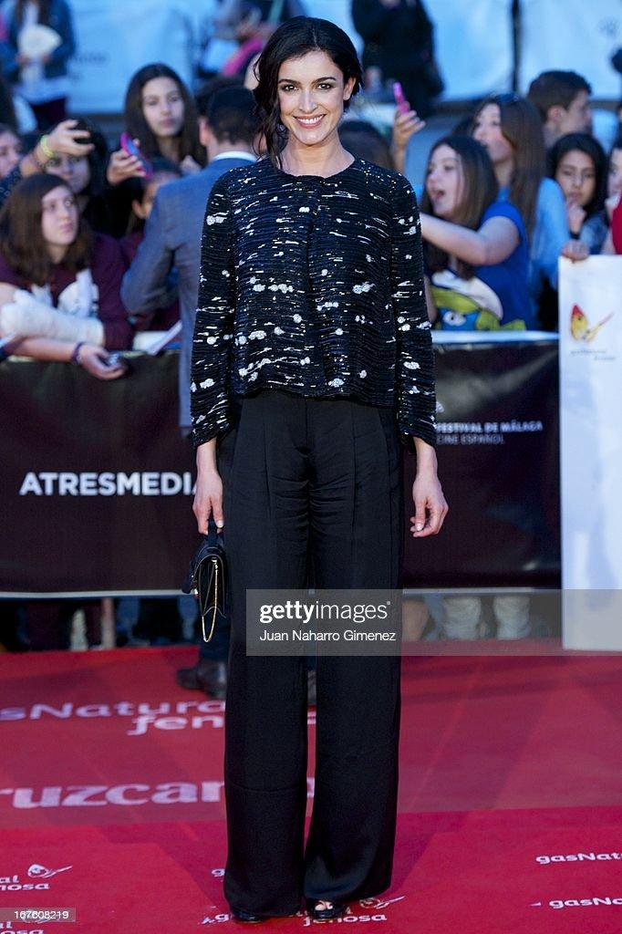 Spanish actress Blanca Romero attends 'Gala Premio Retrospectiva-Malaga Hoy' during 16 Malaga Film Festival at Teatro Cervantes on April 26, 2013 in Malaga, Spain.