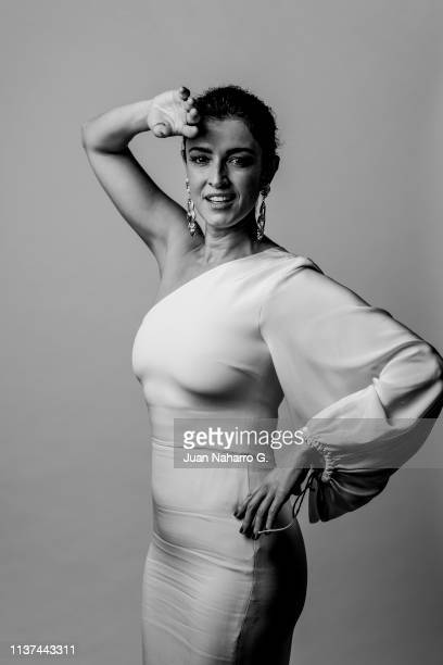 Spanish actress Blanca Romero poses for a portrait session at Teatro Cervantes during 22nd Spanish Film Festival of Malaga on March 21 2019 in Malaga...