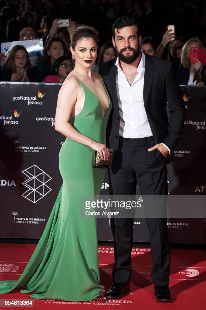 Spanish actress Blanca Suarez and Spanish actor Mario Casas attend the 20th Malaga Film Festival 2017 opening ceremony at the Cervantes Theater on...