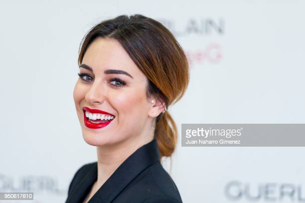Spanish actress Blanca Suarez attends beauty film presentation by Guerlain on April 24 2018 in Madrid Spain