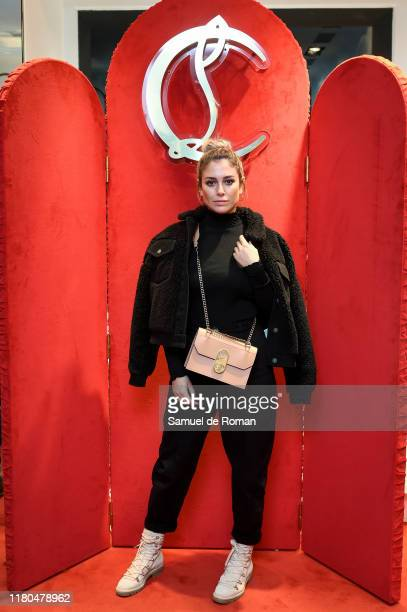 Spanish actress Blanca Suarez attends the ELISA bag collection presentation at the Christian Louboutin store on November 6, 2019 in Madrid, Spain.