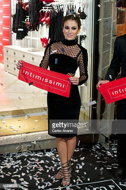 Spanish actress Blanca Suarez inaugurates the new Intimissimi Flagshio Store on November 28 2013 in Madrid Spain