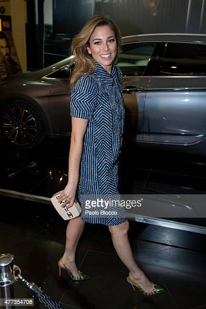 Spanish actress Blanca Suarez is seen arriving to the Lifestyle 10 Awards gala at Platea on June 16 2015 in Madrid Spain