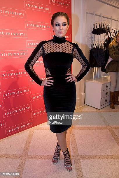Spanish actress Blanca Suarez opens new flagship store Intimissimi in central Madrid on November 28 2013 Photo Oscar Gonzalez/NurPhoto