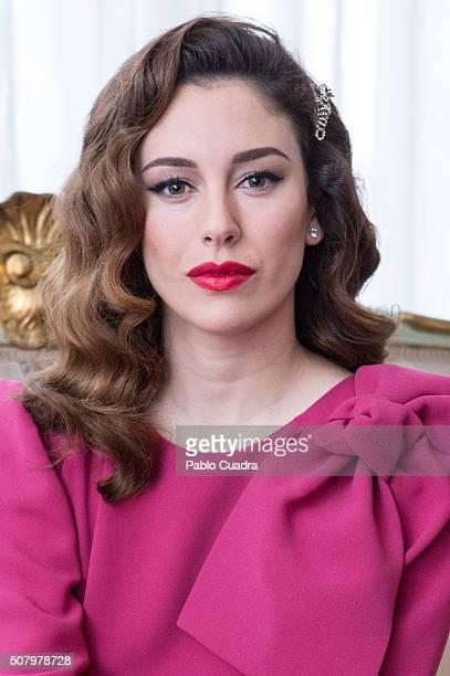 Spanish actress Blanca Suarez presents 'Lo Que Escondian Sus Ojos' on February 2 2016 in Madrid Spain