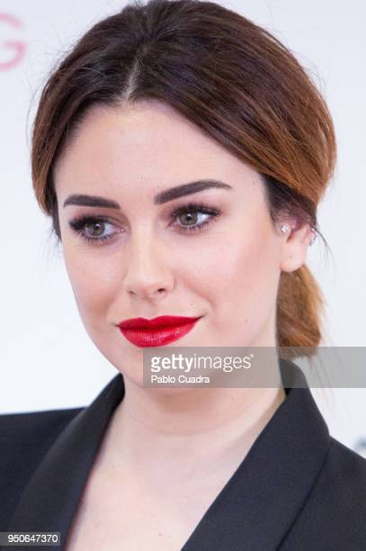 Spanish actress Blanca Suarez presents the first Beauty Film by Guerlain on April 24 2018 in Madrid Spain