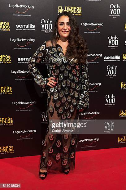 Spanish actress Candela Pena attends 'El Tiempo De Los Monstruos' premiere at Palacio de la Prensa cinema on September 28 2016 in Madrid Spain